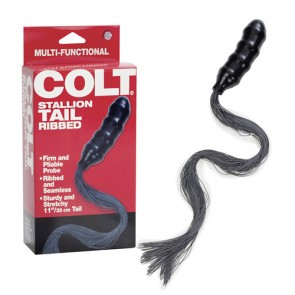 Dildo anale con coda per fustigazione Colt