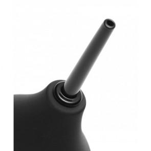 Doccia anale in silicone Thin Tip Enema Bulb nera