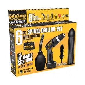Drilldo 6 pezzi Spiral Sex machine Portable