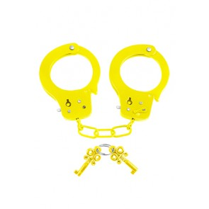 Manette in metallo Neon Fun Cuffs giallo Pipedream