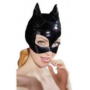 Maschera in vinile con orecchie da gatto
