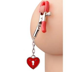 Morsetti per capezzoli con ciondolo forma cuore