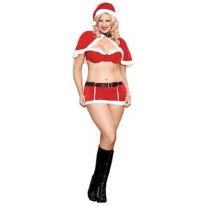 Sexy lingerie natalizia 5 pezzi taglie forti
