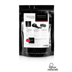 Kit Rosso - Instruments of Pleasure con manette, maschera, anello vibrante e gel
