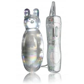 Stimolatore rabbit vibrante in vetro ICICLES 33