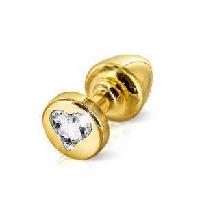 Plug anale gold con swarovski forma cuore 3,5cm