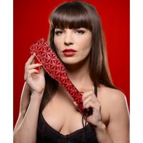 Sculacciatore rosso e nero con design a rombi Crimson Tied