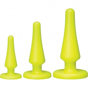 Set 3 Plug anali in silicone giallo
