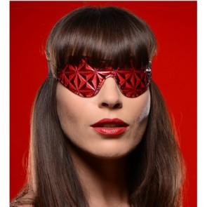 Sexy benda per occhi in vinile rosso e nero