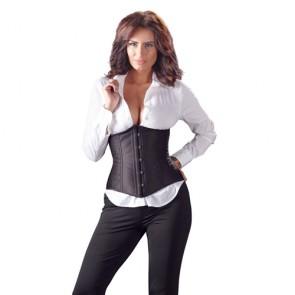 Sexy corsetto nero con chiusura davanti e dietro