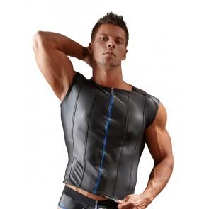 Shirt da uomo con cerniera blu