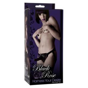 Strap-On Your Desire Black Rose Vac-U-Lock set