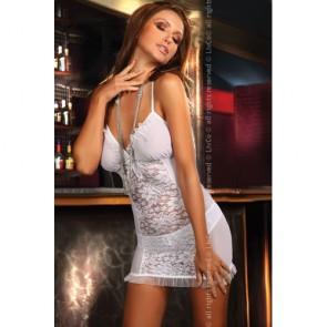 Vestito bianco sexy corto e trasparente