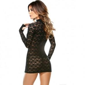 Vestito corto in pizzo nero e perizoma Vixen