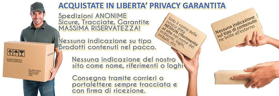 Spedizioni pacco anonimo Privacy Garantita, Gratis da 100€, puoi ordinare anche telefonicamente